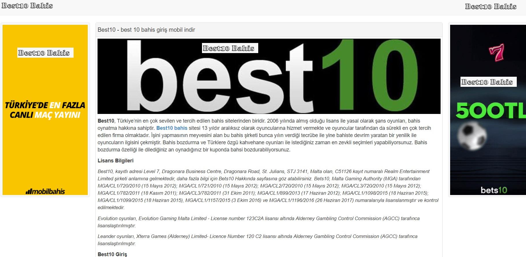 best10 bahis mobil canlı sportsbook giriş